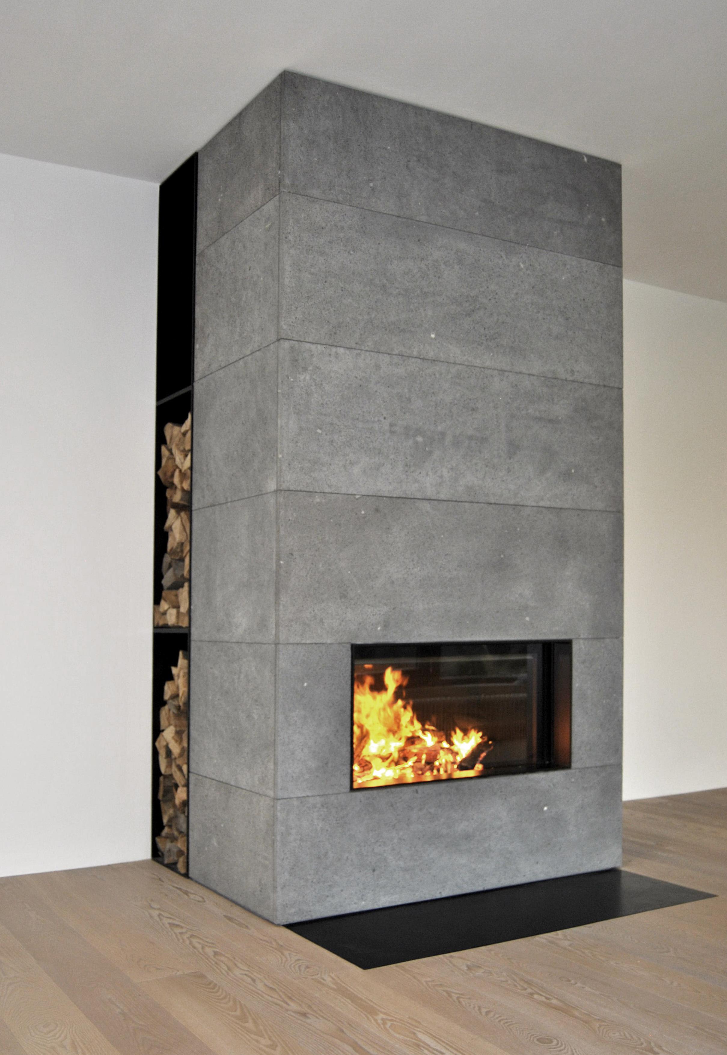 wohnen mit beton heizkamin beton massiv. Black Bedroom Furniture Sets. Home Design Ideas